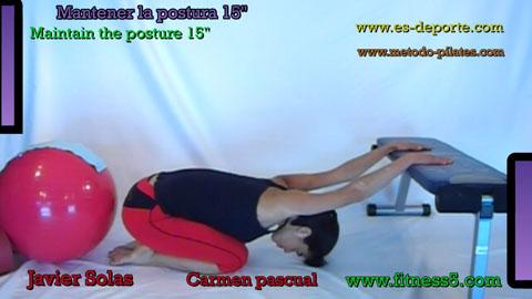 Flexibilidad dorsales y hombros sentado