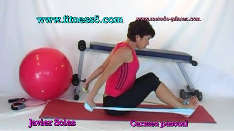 Ejercicio pilates Pilates gomas brazos y abdominales