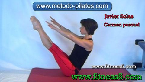 Ejercicio pilates Pilates ejercicio. El bromista.