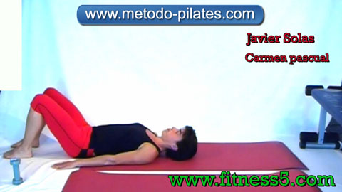 Pilates ejercicio. Jack Knife modificado.