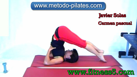 Ejercicio pilates Pilates ejercicio. Jack Knife modificado.