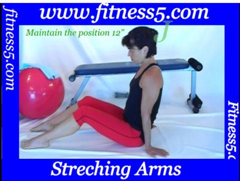 Pilates flexibilidad de brazos desde sentado