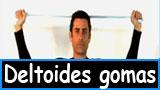 Ejercicios para los deltoides con gomas