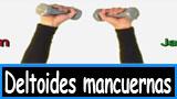 Ejercicios para lo deltoides con mancuernas