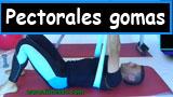 Ejercicios musculacion pectorales con gomas