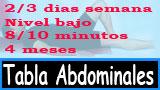 Tabla de ejercicios de abdominales 4 meses iniciad