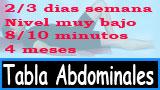 Tabla ejercicios abdominales 4 meses principiantes