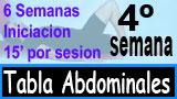 Cuarta Semana tabla abdominales 6-3-6