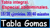 Tabla de ejercicios de gomas especial abdominales