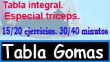 Tabla de ejercicios de gomas especial triceps 1 se
