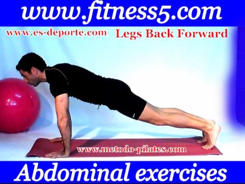 Abdominales aerobicas. Lanzamiento de piernas atras simultaneo.