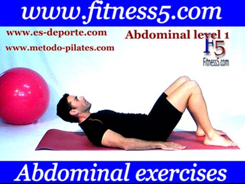 Ejercicio pilates Abdominales basicas nivel uno