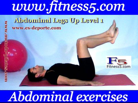 Ejercicio recto interno del abdomen y oblicuos avanzado nivel uno