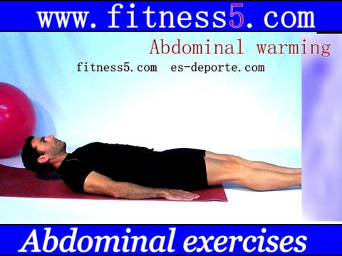 Ejercicio pilates Ejercicio de calentamiento de abdominales mediante la extension y flexion de las piernas desde tumbado