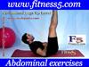 Ejercicio pilates Abdominales pierna en alto estiradas manos en el estomago