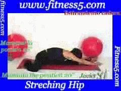 Ejercicio pilates Flexibilidad isquiotibiales y abductores desde sentado con la pierna de atras flexionada
