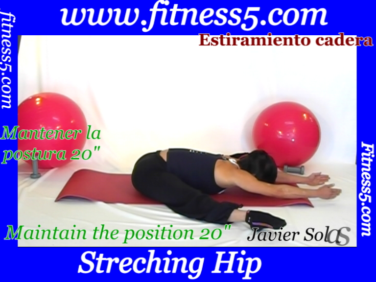 Ejercicio triple de flexibilidad de isquiotibiales sentado.