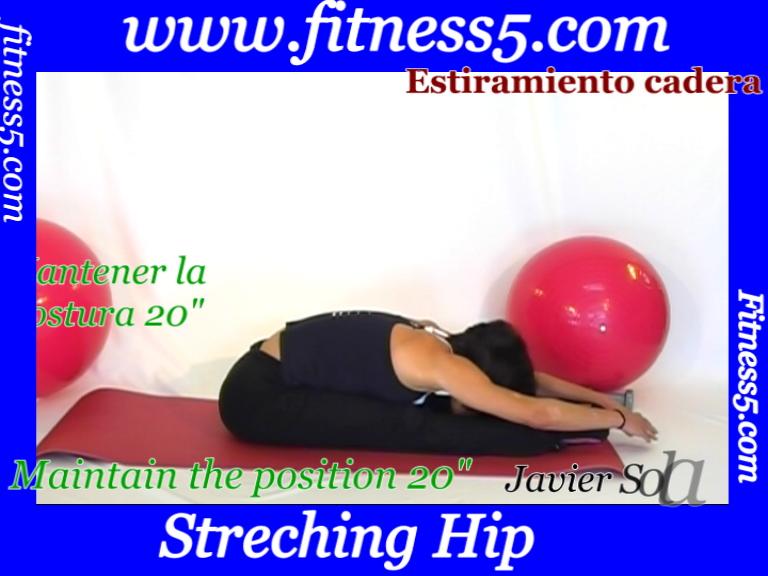 Flexibilidad isquiotibiles desde sentados bilateral.