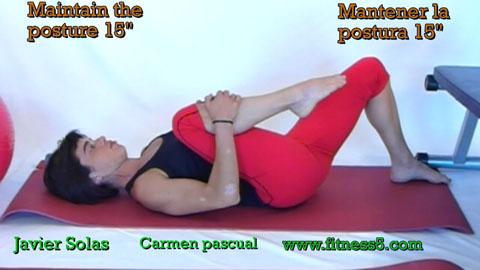 Flexibilidad gluteos tumbado altenado