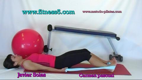 Pilates gomas brazos y abdominales